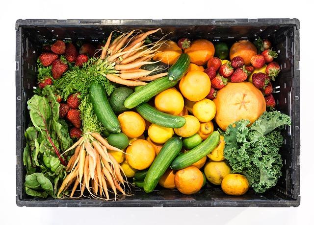bedýnka zeleniny a ovoce