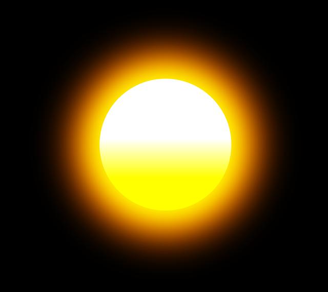 zářící slunce